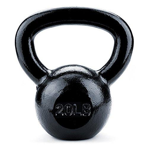 Crown Sporting Goods Black Cast Iron Kettlebell Weights