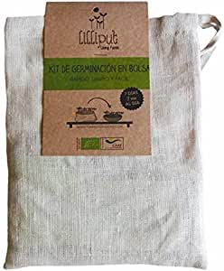 LILLIPUT LIVING FOODS Kit Germinación EN Bolsa DE Cáñamo Natural ...