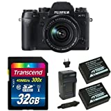 Fujifilm X-T1 16 MP Mirrorless Digital Camera with 3.0-Inch LCD and XF 18-55mm F2.8-4.0 Lens Deluxe Bundle