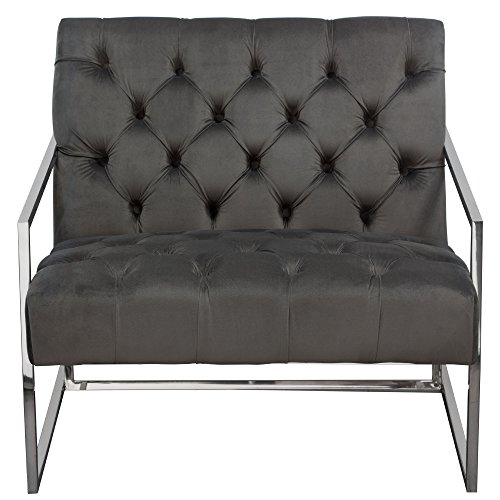 Dusk Button Tufted Sofa 92: Amazon.com: Diamond Furniture LUXECHDG Luxe Accent Chair