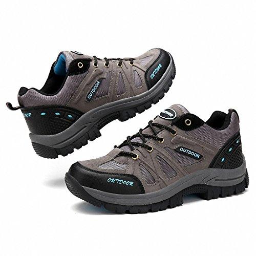 Ben Sports Zapatos para Trekking al aire libre para hombre más el Tamaño Gris