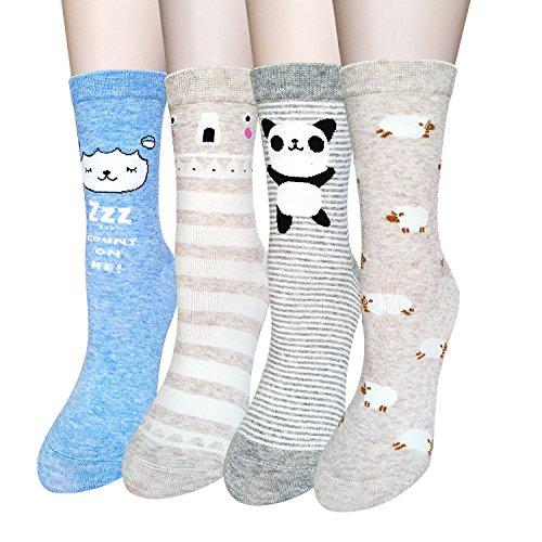Pairs Womens Animal Socks Cotton