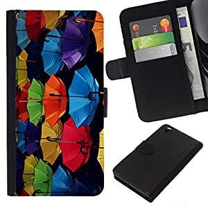Planetar® Modelo colorido cuero carpeta tirón caso cubierta piel Holster Funda protección Para HTC DESIRE 816 ( Pattern Colorful Blue Black )