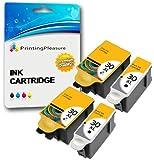 4 XL (2 SETS) Compatible Kodak 30XL (30B & 30CL) Ink Cartridges for Kodak Hero 2.2 3.1 4.2 5.1 ESP 1.2, 3.2, 3.2S C100 C110 C115 C300 C310 C315 C330 C360 Office 2100 2150 2170 AIO - Black/Colour, High Capacity