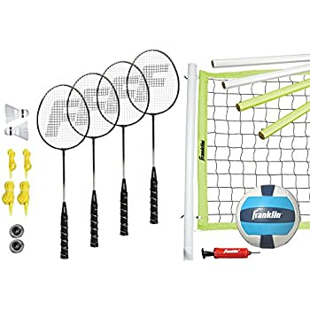 Franklin Sports Advanced Badminton and Volleyball Combo Set