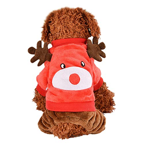 Christmas Sweater for Dogs Cartoon Reindeer Winter Puppy Sweater