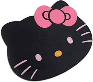 Gnker Hello Kitty Laptop Computer Mouse Pad Mat Pink/Black Color (Black)