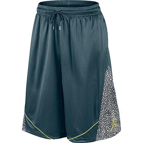 Pantalones cortos de baloncesto Fly Elephant para hombre verde / negro / amarillo 589346-321 (talla S)