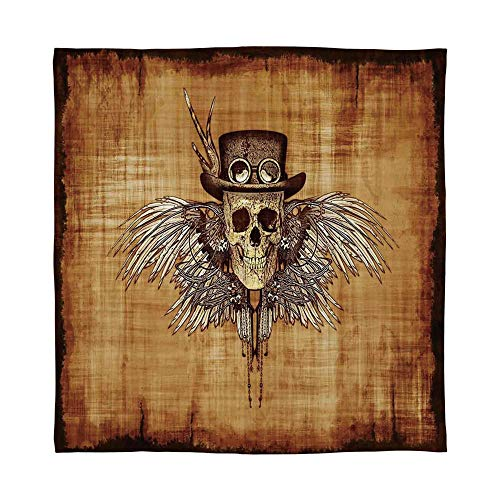 - YOLIYANA Warm Flannel Blanket,Skull,for Folding Bed Crib, Stroller, Travel, Couch and Bed,Size Throw/Twin/Queen/King,Cool Skull Icon on Parchement Background Retro