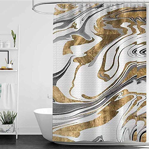homecoco Shower Curtains Black Panther from The Criss-Crossing Golden Path. W48 x L72,Shower Curtain for Shower stall (Panther Crossing)