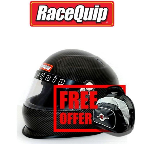 RaceQuip Unisex-Adult Full-Face-style Helmet (Carbon Graphic, X-Large) - Free Deluxe Helmet Bag Included ()