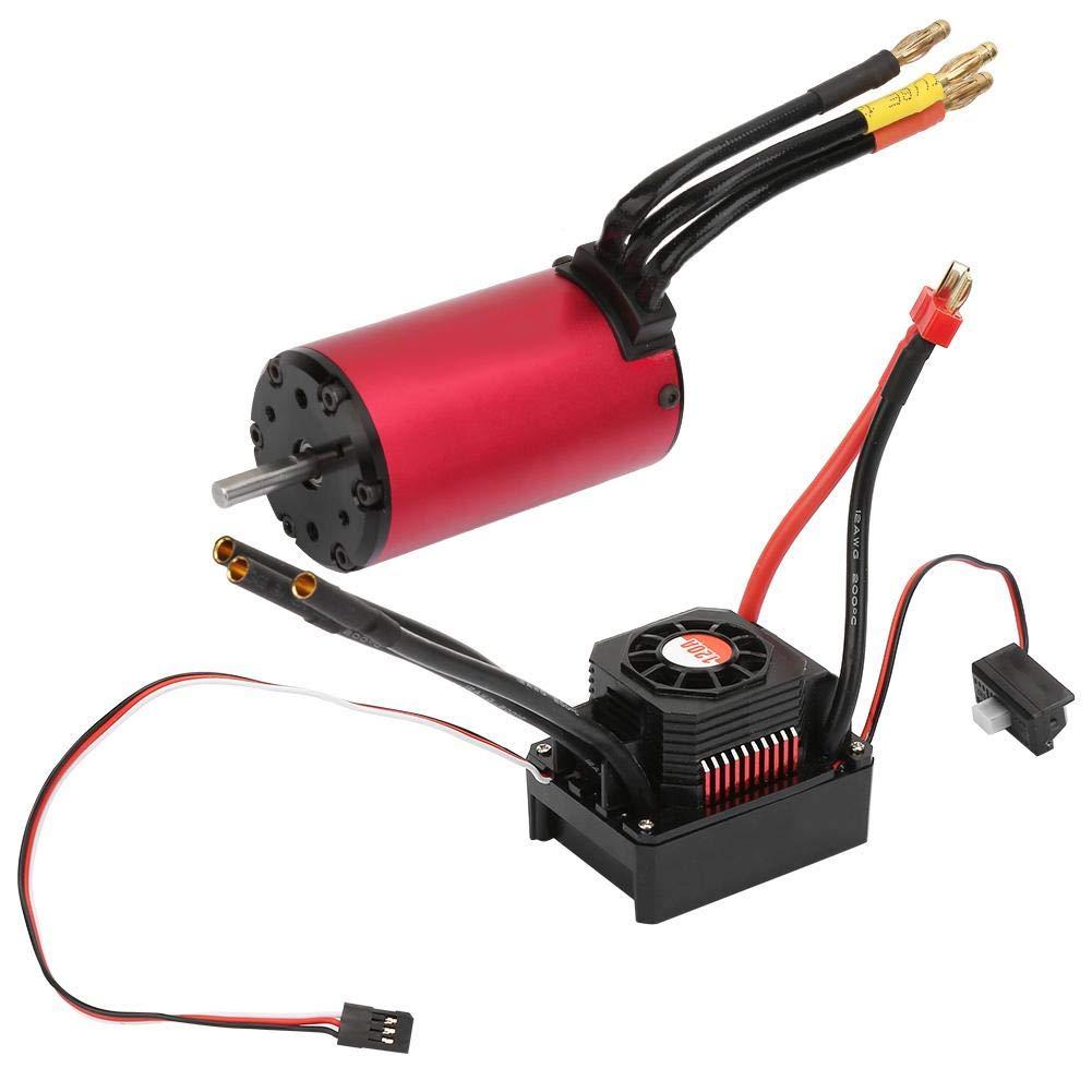 RC Car Motor ESC Combo Set, RC Model Car 2050KV Motor+ KS120A ESC Accessory Set