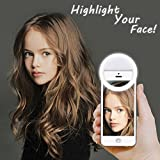 [Updated] LST Selfie Ring Lighting Rechargeable [38 LED] Dimmable Clip Light Portable for iPhone, Sumsang, Tablet, iPad (White)