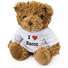 NEW - I LOVE BACON - Teddy Bear - Cute Soft Cuddly - Gift Present Birthday Xmas Valentine
