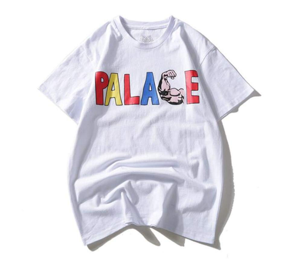 Wupi Palace Street Skateboard Fashion Trend Muscle Letter Print Triangle Short Sleeve T Sh