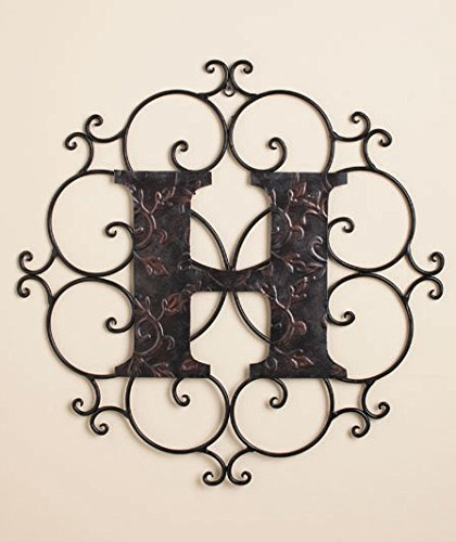 Personalized Metal Embossed Monogram Wall Hanging H