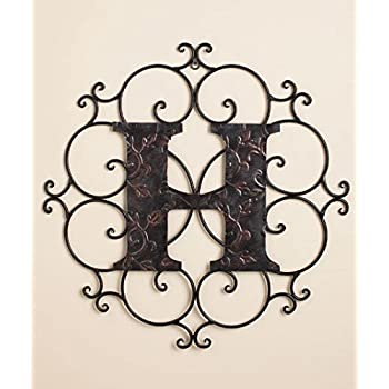 personalized metal embossed monogram wall hanging h home kitchen. Black Bedroom Furniture Sets. Home Design Ideas