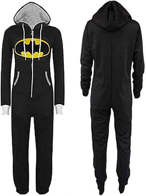 Pijamas de una Pieza Jumpsuit For Hombre Mujer Unisex Batman Superman Adulto Mono De Una Sola Pieza Onesie Pijamas Imprimir Capucha Y Cremallera ...