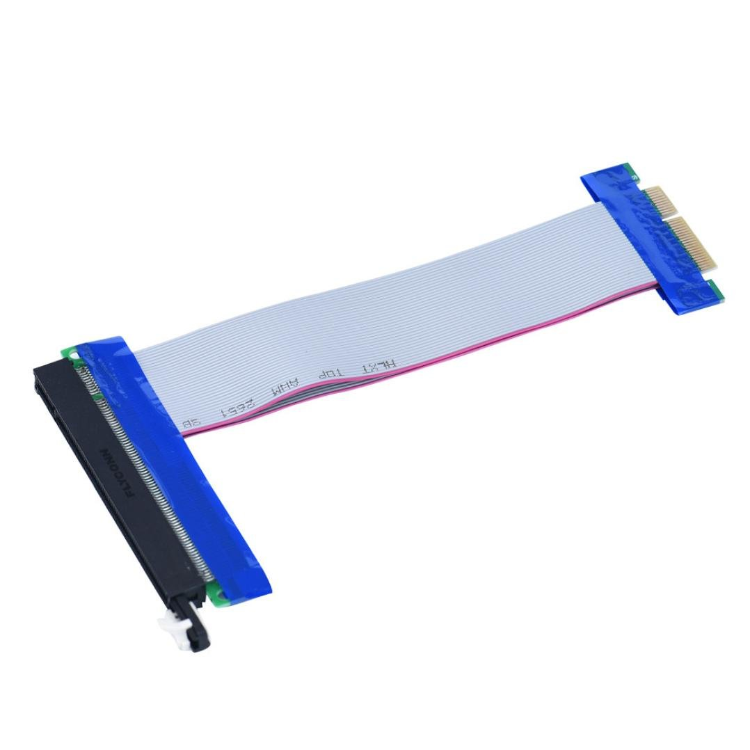 Gotd PCI-E Express Extension Cable Flex Ribbon 4X To 16X Extender Riser Card