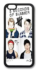 5 Seconds of Summer Band TPU Silicone Case Cover for iPhone 6 Plus 5.5 inch Black