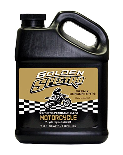 Spectro Performance Oils S.GSMC Golden Spectro 2-Cycle Synthetic Blend Premix, 1/2 Gallon