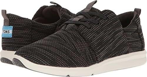TOMS Women's Del Rey Sneaker Black Multi Knit Oxford
