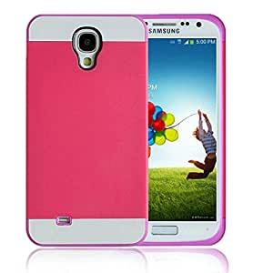 KINGCO Case for Galaxy S4 Mini,Dual Layer Two Tone Deaign TPU+PC Hard Case Rubber Bumper Case Cover(Purple+Rose)
