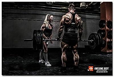 Tomorrow sunny Bodybuilding Fitness Motivational Art Silk Poster 24x36 inch Gym Room Decoration