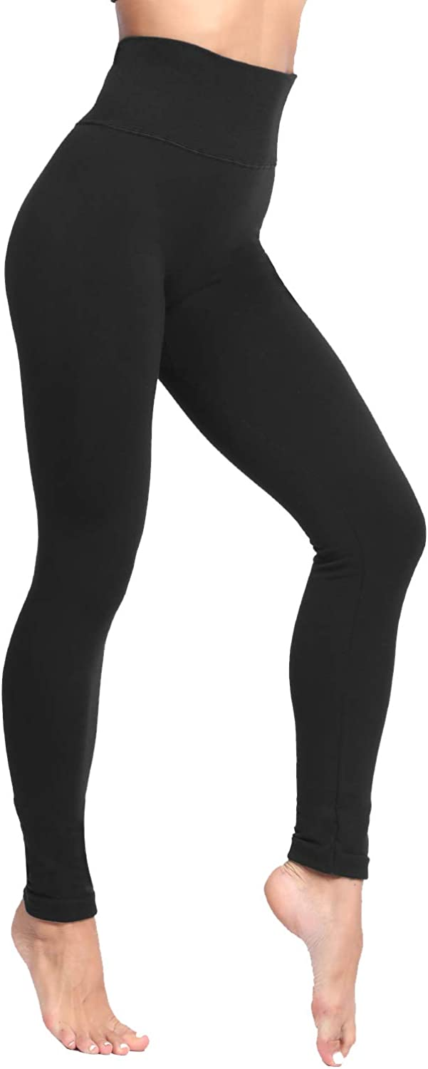FroMoaSa Winter Fleece Lined Leggings Plus Size Thick Pants Tummy Control Brushed Ultra Soft Warm Tights for Women