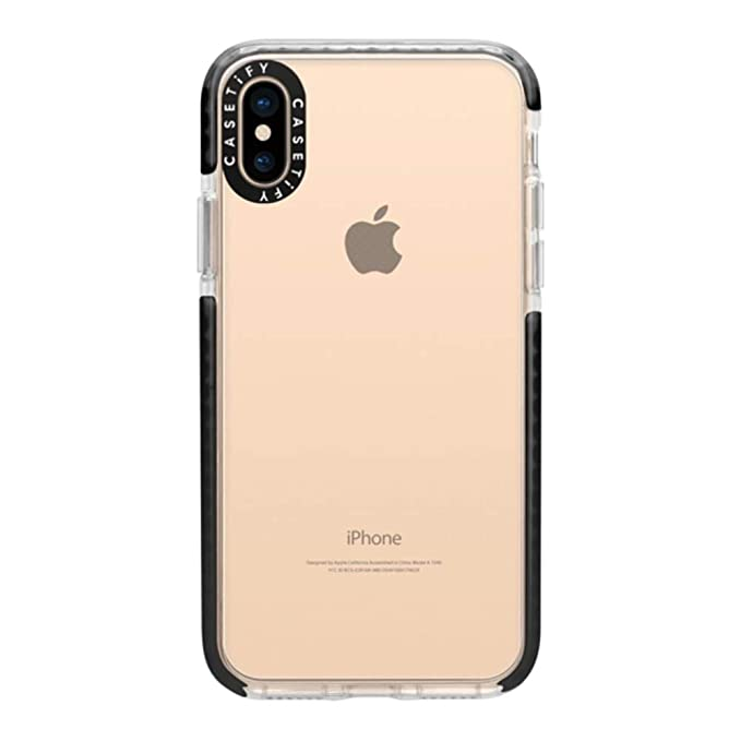 best service 683e1 4c1bf Casetify Clear Impact iPhone Xs Max Case with Slim Cover Thin Drop Proof  Military Grade Protection and Transparent Dual-Layered Shockproof Bumper  for ...