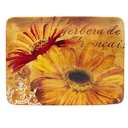 Daisy Platter (Certified International Gerber Daisy Rectangular Platter, 16