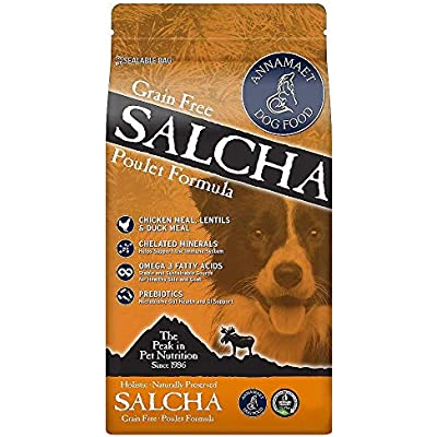 Annamaet Salcha Formula Grain-Free Dry Dog Food, 25 Pounds, Chicken and Duck