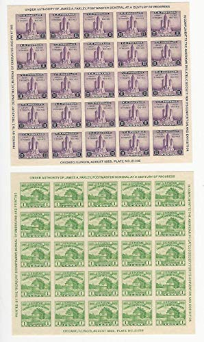 United States, Postage Stamp, 730-731 Mint NH, 1933 Sheets, JFZ