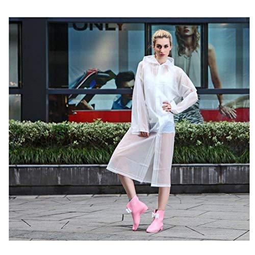 Imperméable De L'eau À Blanc Demi Fashion Unisexe Eva Pluie Poncho transparent rtwOqEr