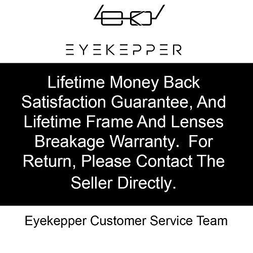 Eyekepper Blue Light Blocking Reading Glasses with Amber Tinted Filter Lens - Computer Readers Men Women - Black-Red +1.75