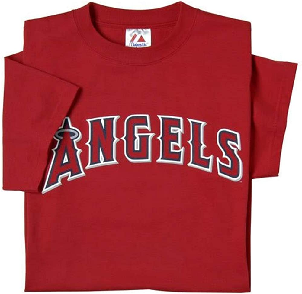 100/% Cotton Los Angeles Angels of Anaheim Majestic Youth T-Shirt