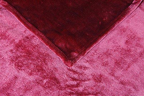 Hiyoko Micromink Flannel Blanket, Queen 86 x 95 inches, Burg