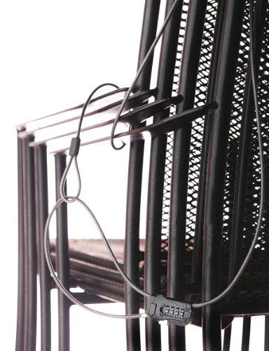 BURG-WÄCHTER Kabelschloss, Verstellbares Zahlenschloss, Länge: 200 cm, Snap+Lock, 720 200 SB