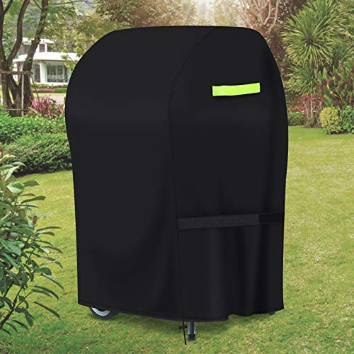 "GEMITTO Grill Cover, 420D Heavy Duty Waterproof BBQ Charbroil Grill Cover, Anti UV Dust Wind Weather, Fits Most Grills(30"" x 26""x 43"")"