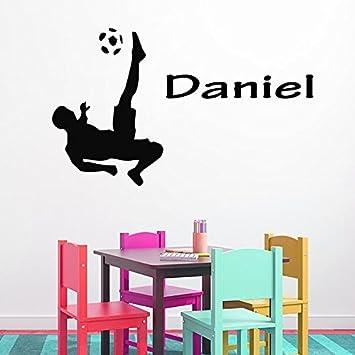 HOUSEWARES – Vinilo Sportsman Sport Custom Boy personalizada Nombre Sport Soccer Player Baby Boy ropa de