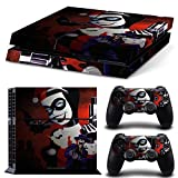 CAN® Ps4 Console Designer Protective Vinyl Skin Decal Cover for Sony Playstation 4 & Remote Dualshock 4 Wireless Controller Stickers – Harley Quinn Catoon For Sale
