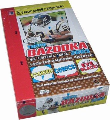 2005 Topps Bazooka Football HOBBY Box - 24P8C
