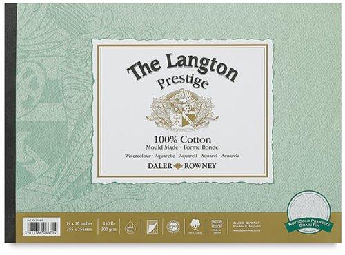 Daler-Rowney The Langton Prestige Cold Press Watercolour Pad 14x10 Daler Rowney