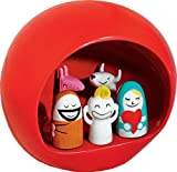 Alessi Amgi10 R Statuette Presepe Nativity Hand-Decorated, Red