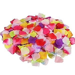 Castle Fairy 500 pcs Silk Rose Petals Artificial Flower Wedding Party Home Decor Bridal Petals,16 Colors 57