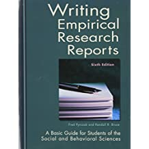 Free Sample College Admission Writing empirical research reports Amazon com
