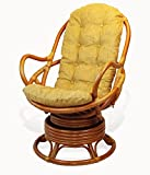 Rattan Wicker Furniture Cushion for Living Lounge Swivel Rocking Chair color Light Brown (Just Cushion)