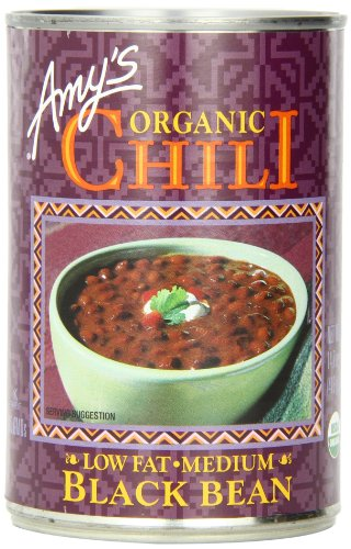 Amy's Organic Black Bean Chili, 14.7-Ounce Cans (Pack of 12) (Amys Soup Black Bean)