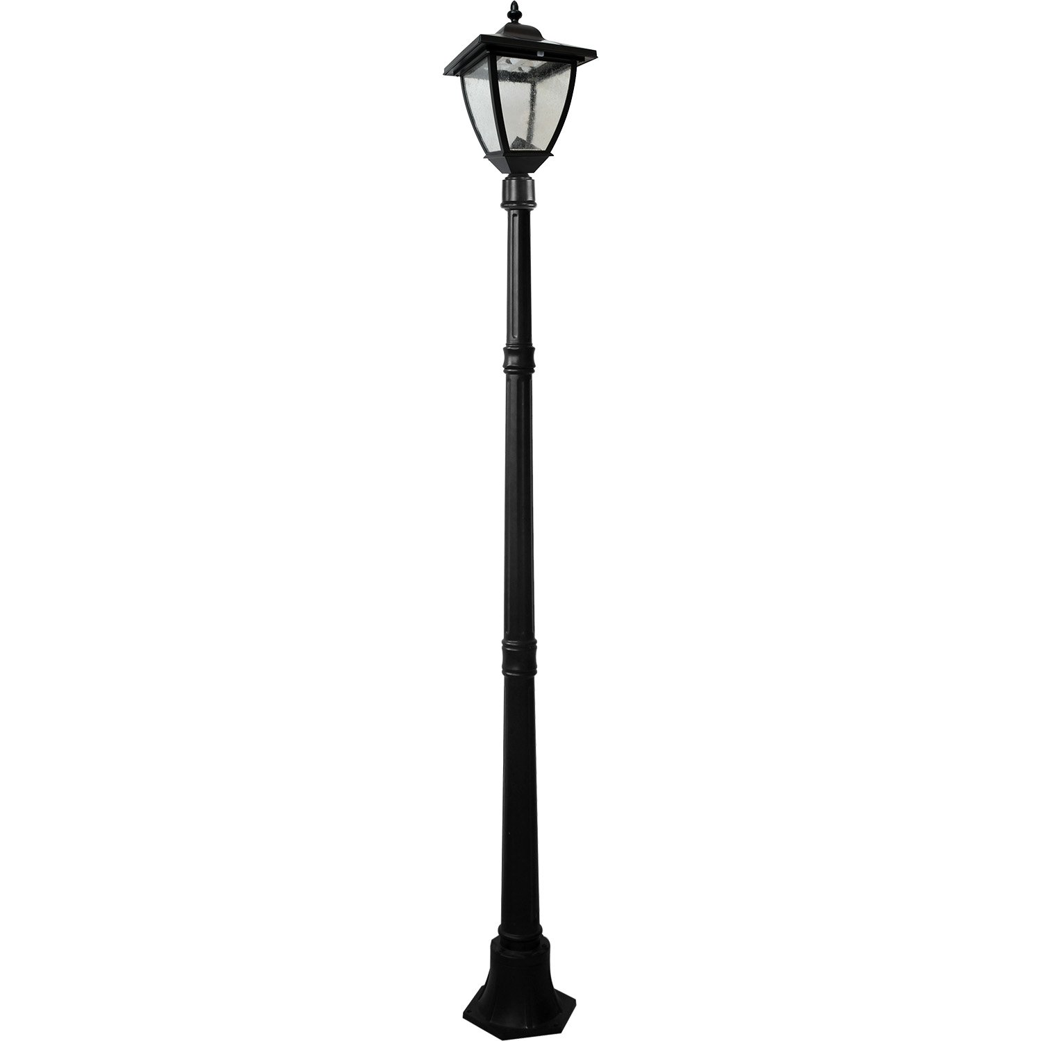 Nature Power 23106 72-Inch Bayport Solar Charged Lamp Post with Super Bright Natural White LEDs, Black