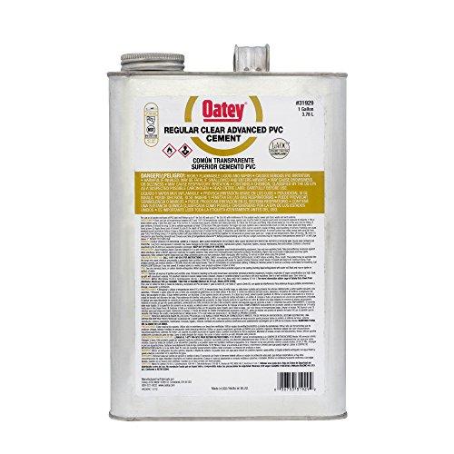 - Oatey 31929 PVC Regular Advanced Cement, Clear, Gallon